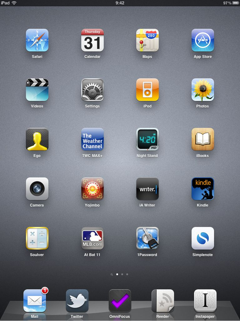 Computer home screen